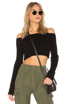 Short Casual Style Street Style Plain Cropped