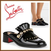 Christian Louboutin Studded Leather Pointed Toe Shoes