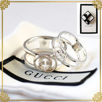 GUCCI Unisex Silver Elegant Style Rings
