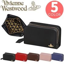 Vivienne Westwood Unisex Plain Leather Pouches & Cosmetic Bags