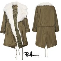 Ron Herman Casual Style Plain Medium Handmade Khaki Parkas