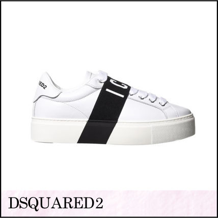 Plain Toe Rubber Sole Casual Style Street Style Plain