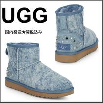UGG Australia CLASSIC MINI Casual Style Studded Leather Flat Boots