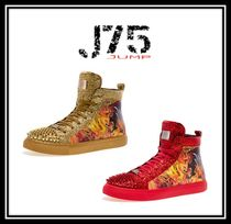J75 by JUMP Faux Fur Street Style With Jewels Sneakers