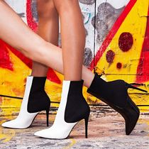 Steve Madden Bi-color Pin Heels Party Style Ankle & Booties Boots