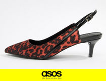 ASOS Leopard Patterns Casual Style Pumps & Mules