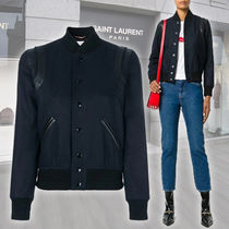 Saint Laurent Short Wool Plain Jackets