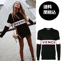 GIVENCHY Crew Neck Casual Style Wool Long Sleeves Plain Medium