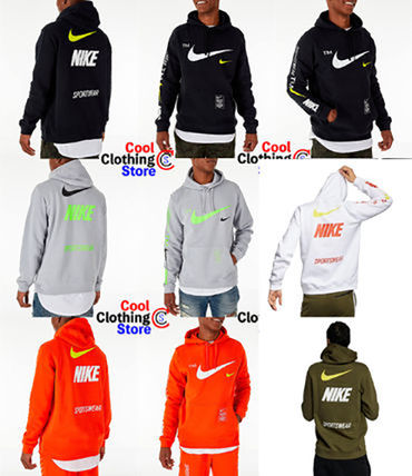 Pullovers Unisex Street Style Long Sleeves Hoodies