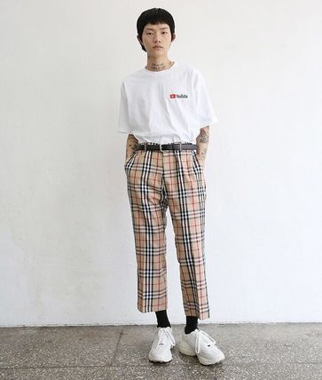 Other Plaid Patterns Unisex Street Style Cotton