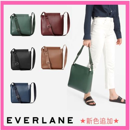Plain Leather Messenger & Shoulder Bags
