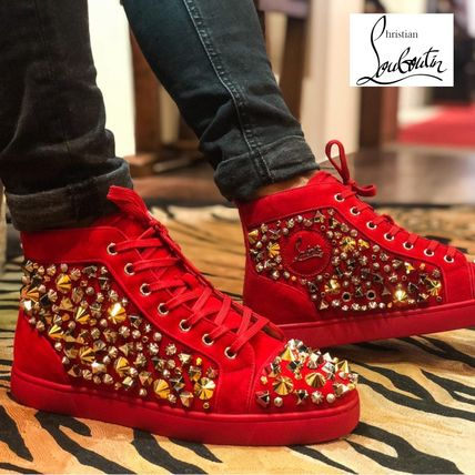 b45a6f189397 Christian Louboutin LOUIS 2018-19AW Studded Leather Sneakers by ...