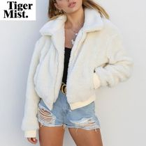 Tiger Mist Short Casual Style Plain MA-1 Oversized Bomber Jackets