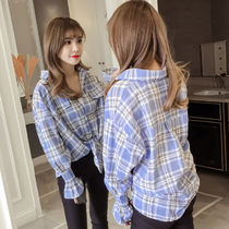 Gingham Casual Style Long Sleeves Medium Home Party Ideas