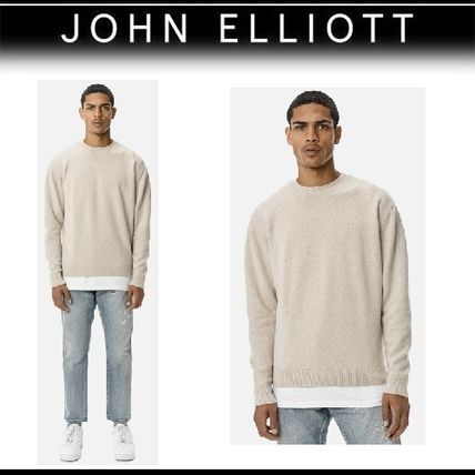 Crew Neck Cashmere Long Sleeves Plain Knits & Sweaters