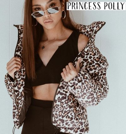 Short Leopard Patterns Casual Style Jackets