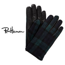 Ron Herman Gingham Tartan Unisex Leather Handmade