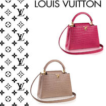 Louis Vuitton CAPUCINES Crocodile 2WAY Other Animal Patterns Elegant Style Handbags
