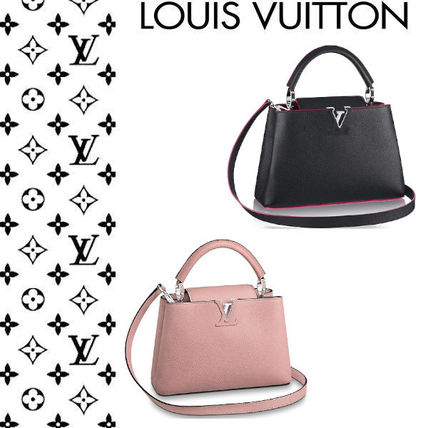 Louis Vuitton CAPUCINES 2WAY Plain Leather Elegant Style Handbags by ... 048587200cd0e