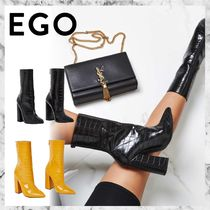 EGO Faux Fur Other Animal Patterns Block Heels