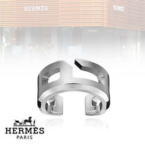 HERMES Plain Stainless Rings