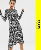 ASOS Zebra Patterns Casual Style Long Sleeves Dresses