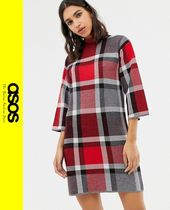 ASOS Other Check Patterns Casual Style Dresses