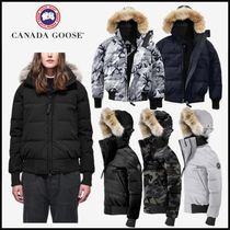 CANADA GOOSE Camouflage Blended Fabrics Plain Down Jackets