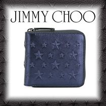 Jimmy Choo Star Plain Leather Folding Wallets
