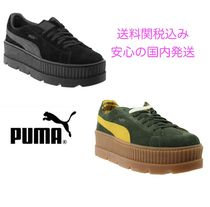 PUMA FENTY Unisex Suede Street Style Collaboration Plain Sneakers
