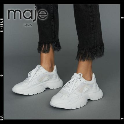 Round Toe Rubber Sole Lace-up Casual Style Street Style