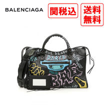 BALENCIAGA Casual Style Street Style Leather Shoulder Bags