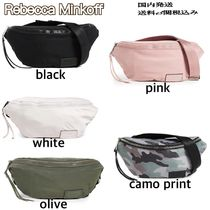 Rebecca Minkoff Camouflage Casual Style Nylon Plain Shoulder Bags