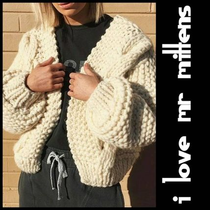 Short Casual Style Wool Street Style Long Sleeves Plain