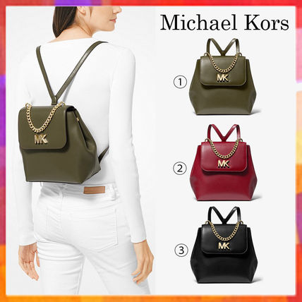 2dc748197704 Michael Kors MOTT Casual Style Plain Leather Backpacks by samehiro ...