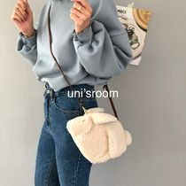Casual Style Fur 2WAY Other Animal Patterns Shoulder Bags
