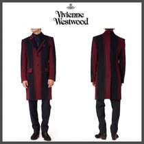 Vivienne Westwood Stripes Wool Long Chester Coats