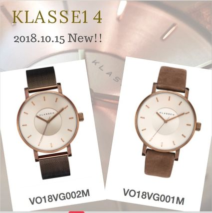 Unisex Metal Round Quartz Watches Elegant Style