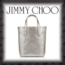 Jimmy Choo Star Studded 2WAY Plain Leather Totes
