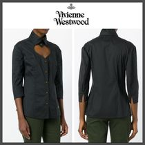 Vivienne Westwood Cropped Plain Cotton Medium Elegant Style Shirts & Blouses