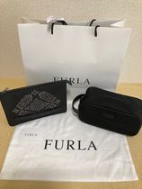 FURLA Unisex Street Style Collaboration Bag in Bag Leather