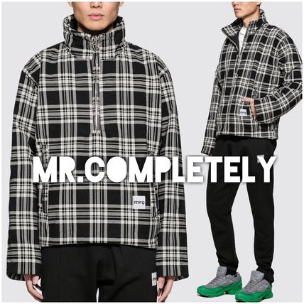 Other Check Patterns Street Style Jackets