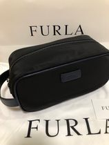FURLA Unisex Nylon Street Style Bag in Bag Clutches