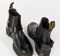 Dr Martens Round Toe Casual Style Street Style Plain Leather