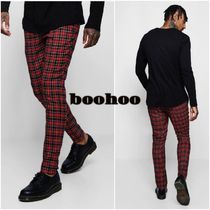 boohoo Printed Pants Tartan Street Style Patterned Pants