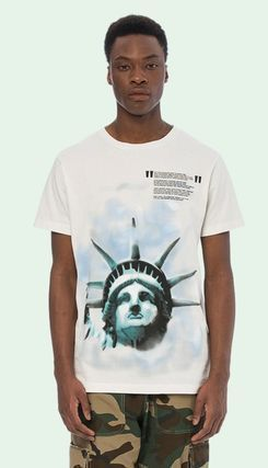 Off-White More T-Shirts Street Style Cotton Short Sleeves T-Shirts