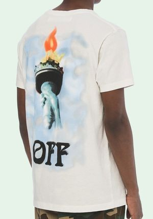 Off-White More T-Shirts Street Style Cotton Short Sleeves T-Shirts 2