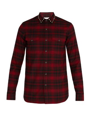 VALENTINO Shirts Other Check Patterns Street Style Long Sleeves Cotton Shirts 2