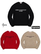 Supreme Unisex Street Style Collaboration Long Sleeves