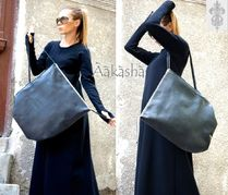 Aakasha A4 Plain Leather Handmade Oversized Handbags